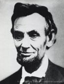ABRAHAM LINCOLN (1809-1865, 16TH PRESIDENT OF THE UNITED STATES. )
