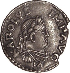 CHARLEMAGNE IMAGE (REIGN 12.15.800 TO 1.28.814, BORN 768, DIED 814)