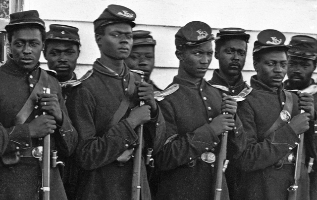 CIVIL WAR RECRUITS (OVER 180,000 BALACK MEN FOUGHT FOR THE UNION ARMY DURING THE CIVIL WAR.)