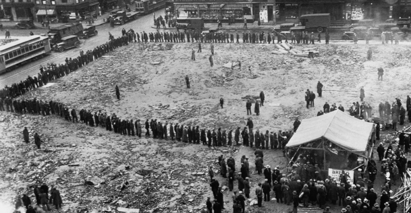 BREAD LINES IN NEW YORK 1933
