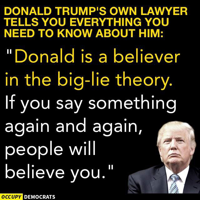 TRUMP'S BELIEF IN THE LIE