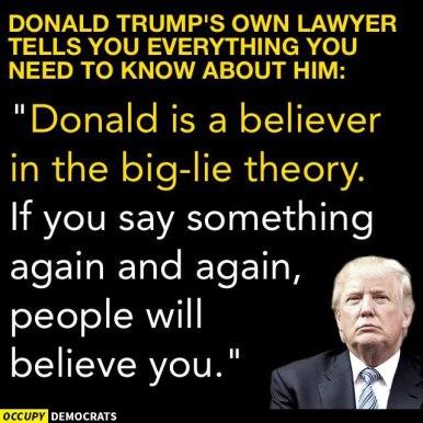 TRUMP'S BELIEF IN THE LIE