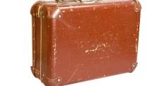BATTERED SUIT CASE