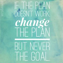 CHANGING EVENTS TO CONFORM TO PLAN
