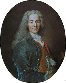 VOLTAIRE aka FRANCOIS-MARIE AROUET (1694-1778, WRITER, PHILOSOPHER, PLAYWRIGHT, HISTORIAN)