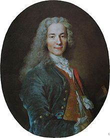 VOLTAIRE aka FRANCOIS-MARIE AROUET (1694-1778, WRITER, PHILOSOPHER, PLAYWRIGHT, HISTORIAN)