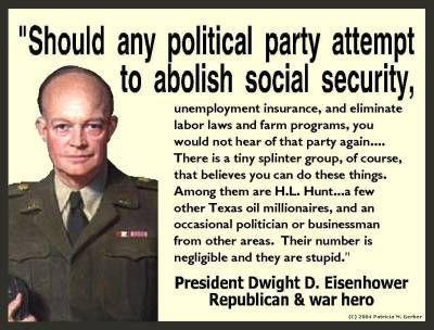 EISENHOWER'S VIEW OF SOCIAL SECURITY