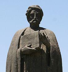IBN KHALDUN (STATUARY SYMBOL OF ISLAMIC HISTORIAN BORN 1332, DIED 1406 AT 73 YEARS OF AGE.)