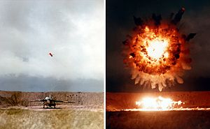 NUCLEAR DETONATION ABOVE TEST TARGET 1986