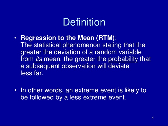 REVERSION TO THE MEAN