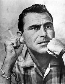 ROD SERLING (1924-1975, SCREENWRITER, TV PRODUCER, NARRATOR)