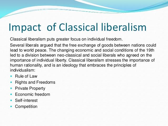 classic liberalism