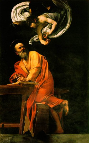 CARAVAGGIO-ST MATTHEW AND THE ANGEL-(THE REVISION)