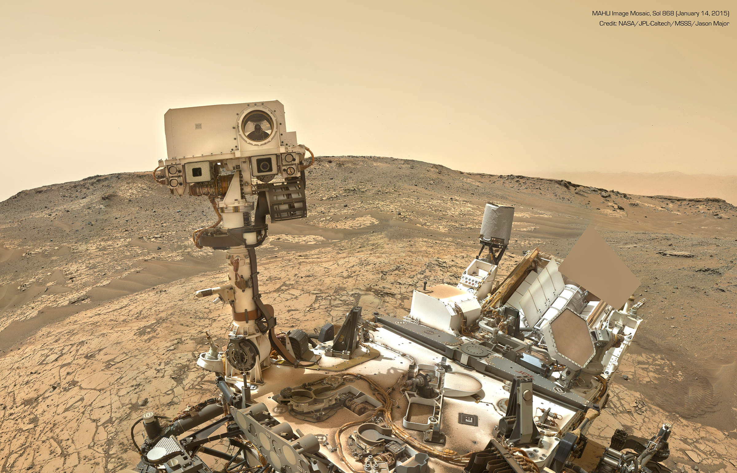 CURIOSITY--FIRST -SELFIE- IN 2015 ON MARS