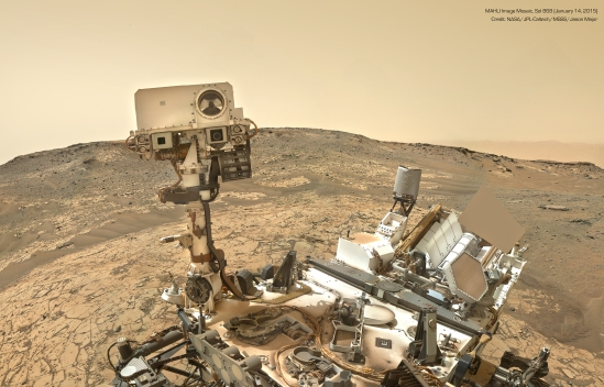 CURIOSITY--FIRST -SELFIE- IN 2015 ON MARS