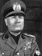BENITO MUSSOLINI (1883-1945, PRIME MINISTER OF ITALY 1922-1943, LEADER OF NATIONAL FASCIST PARTY)