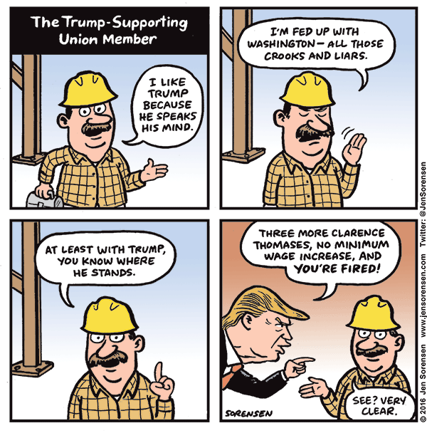 Trump Cartoon About Unions