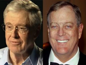 CHARLES (LEFT) AND DAVID KOCH