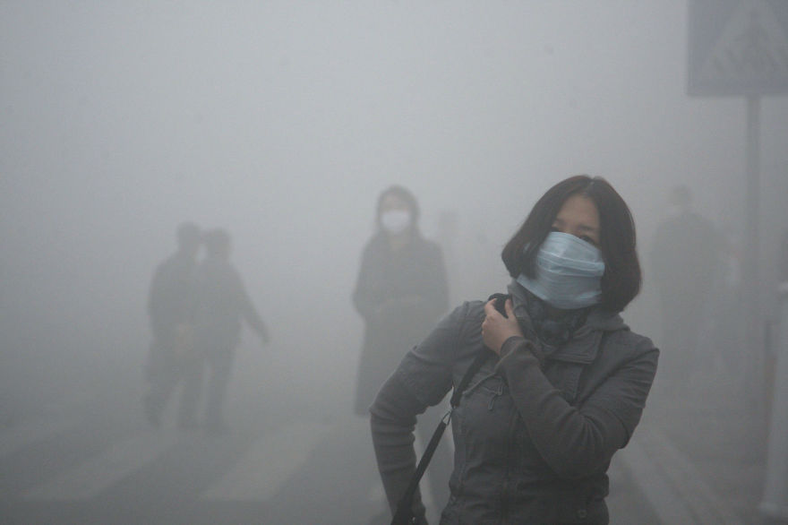 POLLUTION IN BEJING, CHINA