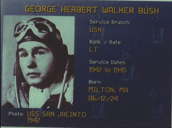 GEORGE H. W. BUSH MILITARY SERVICE WWII