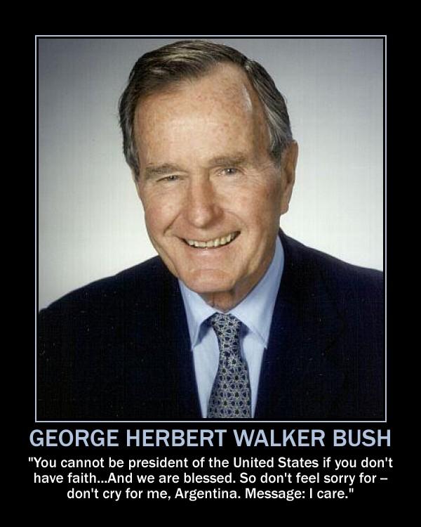GEORGE H. W. BUSH TAKES RESPONSIBILITY